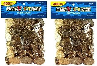Novelty Amscan Plastic Gold Coins Value Pack - Value 800 Ct