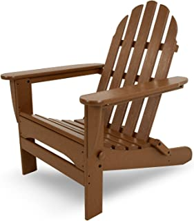 "POLYWOOD AD5030TE Classic Folding Adirondack Chair, Height: 35.00"" - Width: 29"" - Depth: 35.00"", Teak"