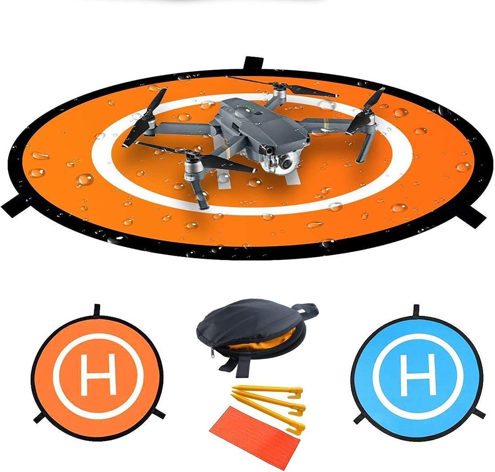Fstop Labs Drone and Quadcopter Landing Pad Accessories 32 inch, Waterproof Nylon for DJI Tello Mavic Phantom 3 4 Spark Mavic 2 Pro Zoom Air