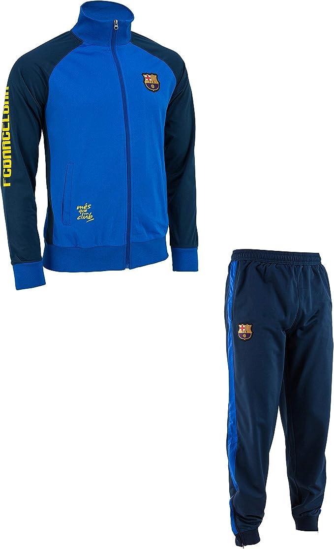 FC Barcelona - Tuta sportiva da uomo, collezione ufficiale di FC Barcelona, taglia adulto