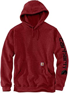 Carhartt Men's Big & Tall Midweight Sleeve Logo Hooded...