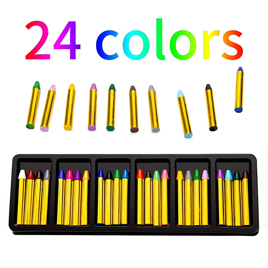 AIEX Face Body Paint Crayons for Kids, Colorful Safe & Non-Toxic Makeup Crayons Face Paint Kit, Ideal for Halloween Makeup and Birthday Party