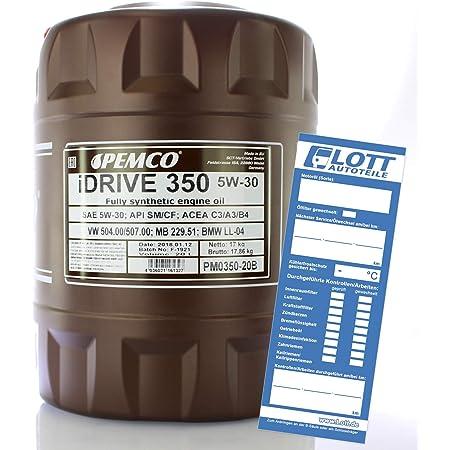 Pemco Idrive 350 5w 30 Motoröl 20l Auto