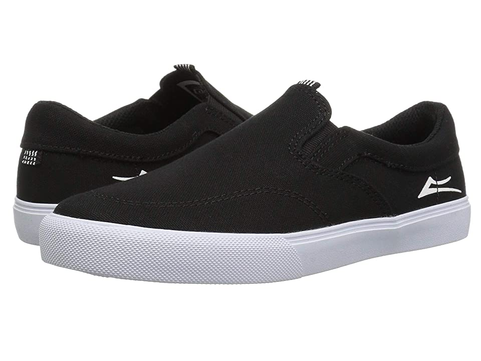 Lakai Owen (Little Kid/Big Kid) (Black/White Canvas) Men