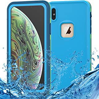 iPhone Xs Waterproof Case, iPhone X Waterproof Case Wireless Charging Support Waterproof Shockproof Full-Body Rugged Cover Case with Built-in Screen Protector for Apple iPhone Xs/X 5.8 inch