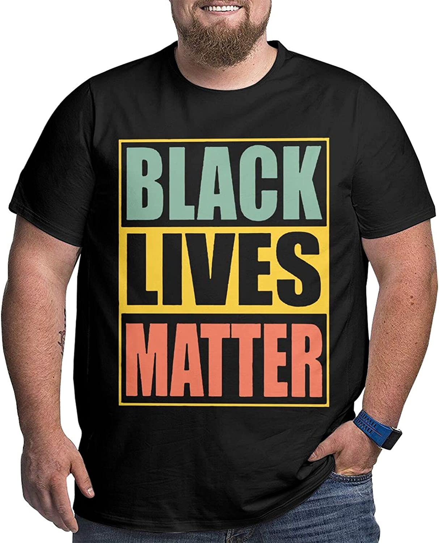Black Lives Matter Big Size Men's t-Shirt Round Neck Short Sleeve T-Shirt