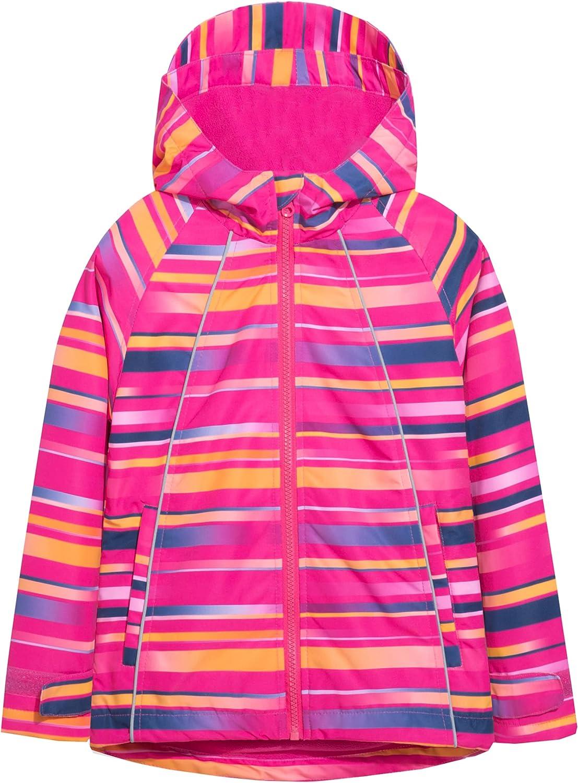 Hiheart shipfree Girls Fleece Cheap sale Jackets Striped Ja Hooded Windproof Outwear