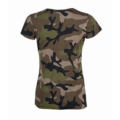 cf93dd22c4 SOL S Womens Ladies Camo Short Sleeve T-Shirt