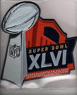Super Bowl XLVI 46 Official Patch New York Giants vs New England Patriots at Lucas Oil Stadium