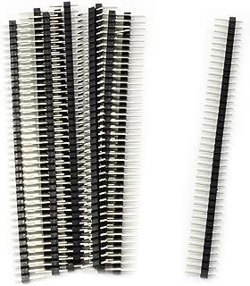 HiLetgo® 20個セット 40Pin 2.54mm 単一列端子ピン ヘッダー ストリップ PBC 1*40 P ピッチ Ardunioに対応 DIYセット [並行輸入品]