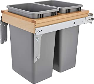 Rev-A-Shelf Dbl 50 QT Top Mount Waste Container, Quart, Natural