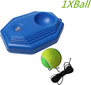 Lazapa Tennis Trainer, Tennis Trainer Rebounder Ball Trainer Baseboard with Long Rope, Tennis Ball Trainer Set Fit for Tennis Beginner Training