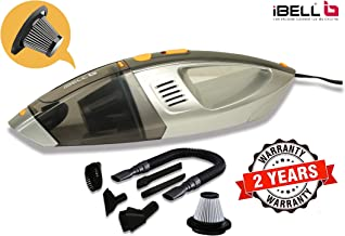 iBELL Car Vacuum Cleaner High Power for Quick Car Cleaning, DC 12V, 6 Types of Nozzle - 2 Year Warranty