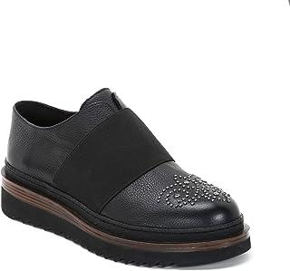 4b6deb394448b1 Alesya by Scarpe&Scarpe - Chaussures à Lacets Micro Rivets sur Le Bout  Bande élastique Devant,