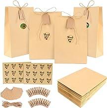 24 Pezzi Sacchetti Di Carta Con Motivi di Fiori Bustine Caramella Biscotti Gioielli Paper Bags Tasche Kraft Sacchetto Di Carta Regalo Borse Per Dolci Regalo In Carta Shopping Sacchetto