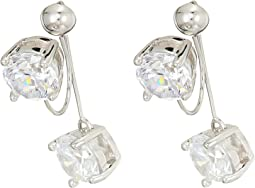 Vince Camuto - Stone Front/Back Clip Earrings