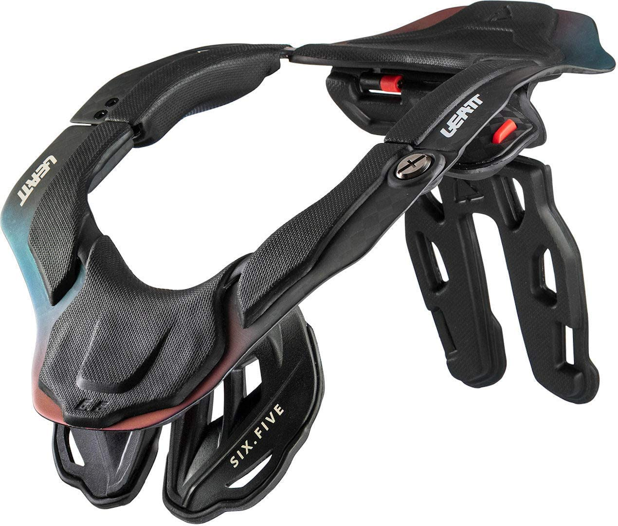 Leatt Dbx 6 5 Neck Protector Carbon Hologram Sport Freizeit