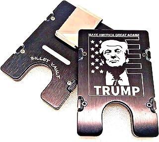TRUMP, MAGA, ALUMINUM WALLET/CREDIT CARD HOLDER, RFID BLOCKING,BLACK