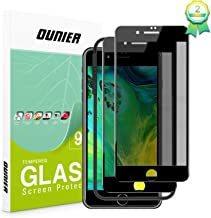 OUNIER for iPhone 8 Plus and 7 Plus 28°True Privacy Screen Protector, [Easy Frame] [Full Coverage] Anti-Spy Tempered Glass Screen Protector Compatible with Apple iPhone 8 Plus & iPhone 7 Plus [5.5