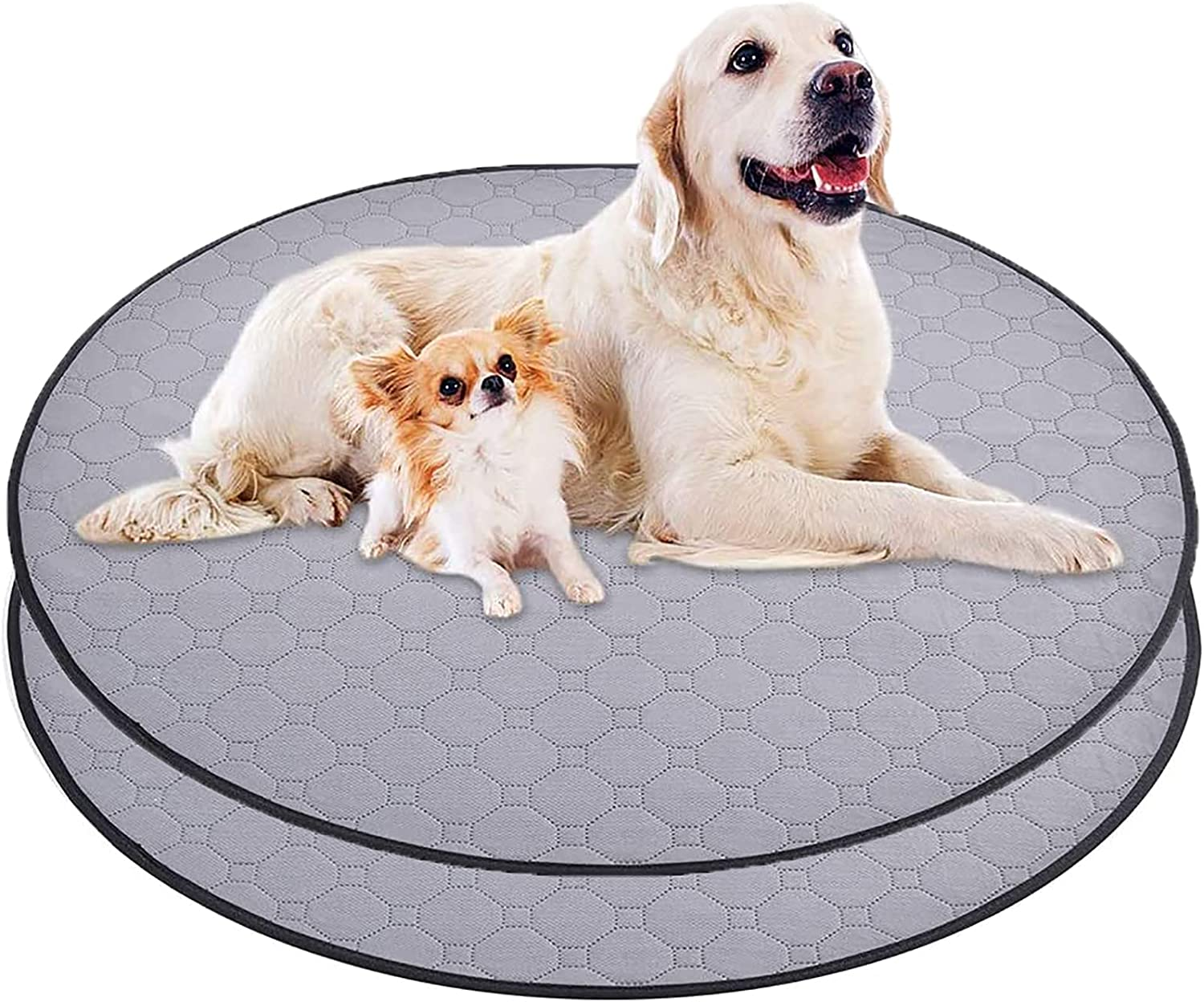 DUDUPE Round Washable Pee Pads for New York Mall Max 86% OFF Dogs 36