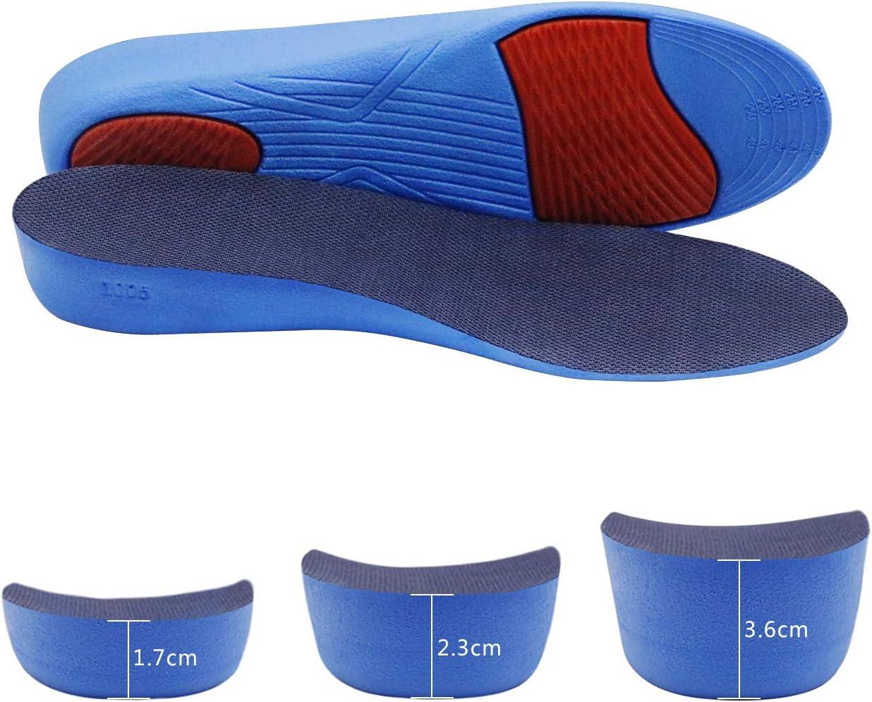 3-9cm Erhöhung Einlegesohle Fersenkissen Höhe Taller Pad Schuheinlagen Erhöhenni