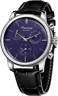 Forsining Men's Automatic Self Wind Watch Power Reserve Date Luxury Wristwatch