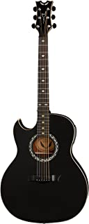 Dean EX BKS L Lefty Acoustics Acoustic-Electric Guitar, Left Handed, Black Satin