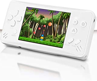 Haopapa Retro Plus Handheld Game Console Portable Video Games Player Built-in 218 Classic Games 3.5 Inch LCD Big Screen Li-ion USB Charge TV Output Arcade Gaming System Gifts for Kids Adults -White
