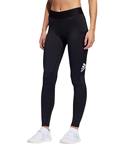 adidas Alphaskin Sport Long Tights (Black/White) Women