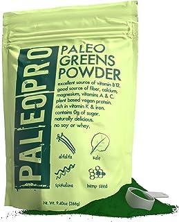 PaleoPro Paleo Greens Powder, Plant-Based Vegan Protein Powder, Vitamin B12, Keto Ingredients, Gluten-Free, Good Source of...