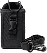 abcGoodefg Universal Radio Holder Holster Case Pouch for Walkie Talkie GPS Motorola Kenwood Midland ICOM Yaesu Two Way Radio (Black)
