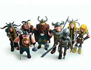 Tine Set of 8 Pcs How to Train Your Dragon Action Figures Hiccup Astrid Stoick & Ruffnut Child Toys Xmas Gift Cake Toppers