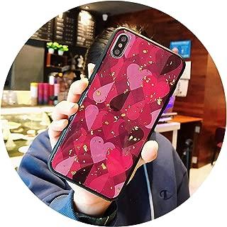 ためのiphone 6 6 s 7 8プラスx xr xsマックス電話ケース高級グリッターキラキラ箔愛ハートハードpc電話ケースのためのiphone x xs,T1,for iphone 7