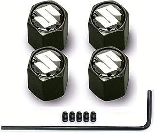 Infinity-Deal 4Pcs Black Anti-theft Car Wheel Tire Valve Stem Caps Air Dust Cover For SUZUKI Swift Jimny GRAND VITARA Alto Styling Auto Accessories