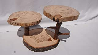3 Tier Aspen tree slice display stand, Centerpiece, plant stand, cake stand, rustic wedding decor, server