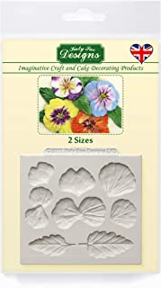 Pansies Silicone Mold for Cake Decorating, Crafts, Cupcakes, Sugarcraft, Candies, Card Making and Clay, Food Safe Approved, Made in The UK, Perennial Flowers