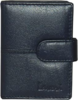 Laveri Genuine Leather Credit Card Holder Wallet Bill and Card Holder Unisex Wallet, Leather - Blue