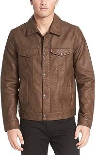 men's leather trucker jacket