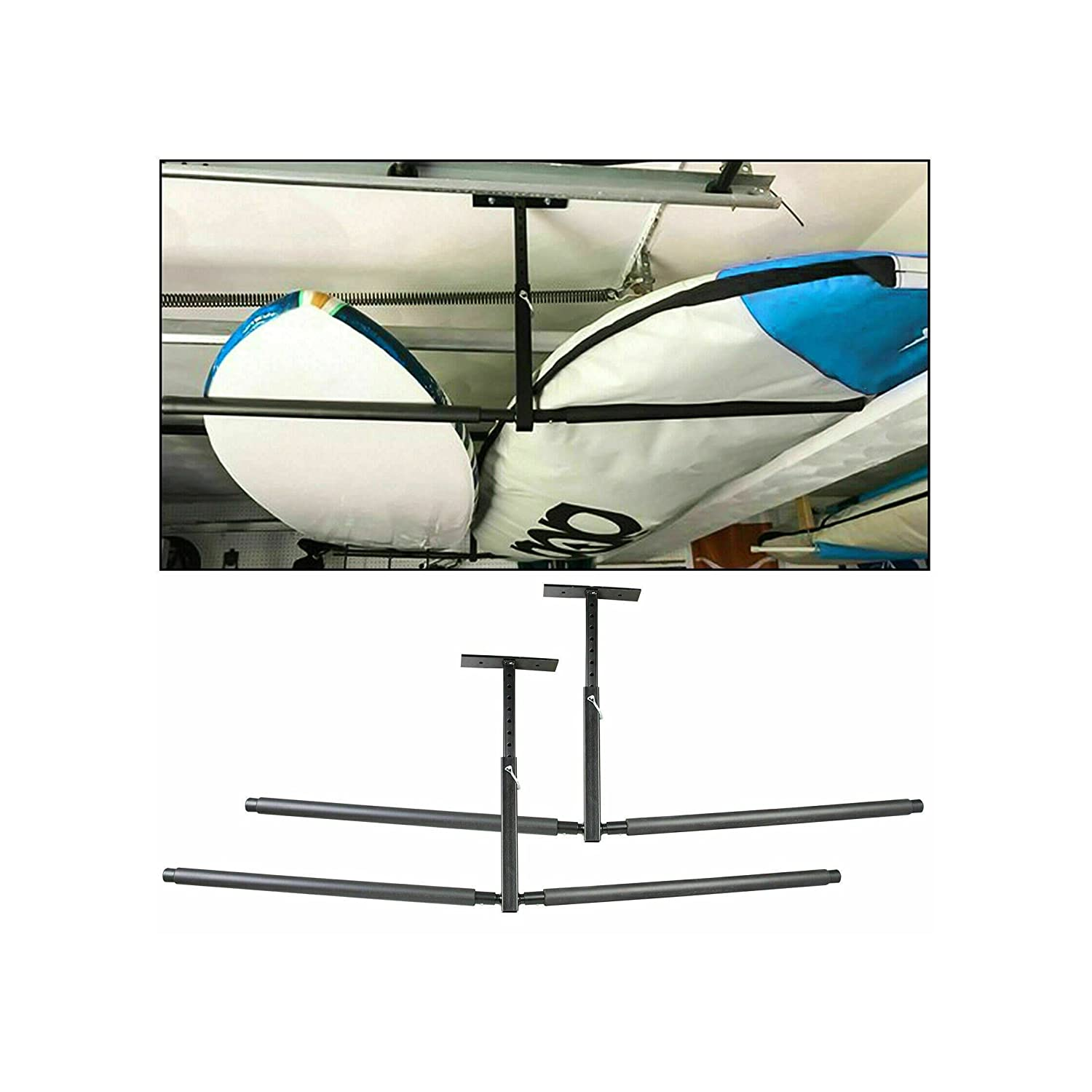 Pair Kayak Ceiling Free shipping anywhere in the nation Rack Storage Mount Hanger Adjus San Francisco Mall Overhead