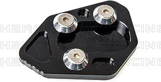 H2Racing Schwarz Motorrad Seitenständer Unterstützung Fuß Verbreiterung Ständer Pad für HP2 Sport 2008 2010 F800R 2009 2014 R1200S 2006 2008