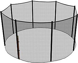 Ampel 24 vervangend veiligheidsnet voor trampoline Ø 366 cm, tuintrampoline vervangingsnet voor 8 palen, extern net, reser...