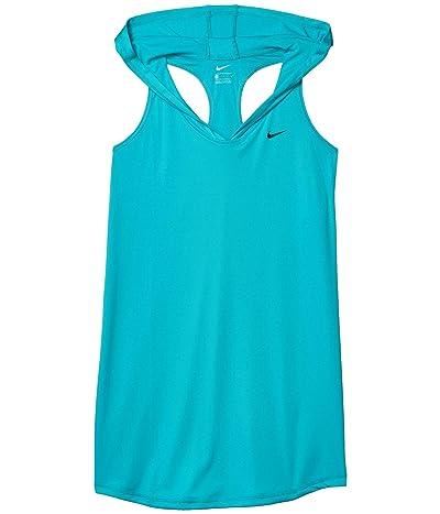 Nike Kids Hooded Dress Cover-Up (Little Kids/Big Kids) (Oracle Aqua) Girl