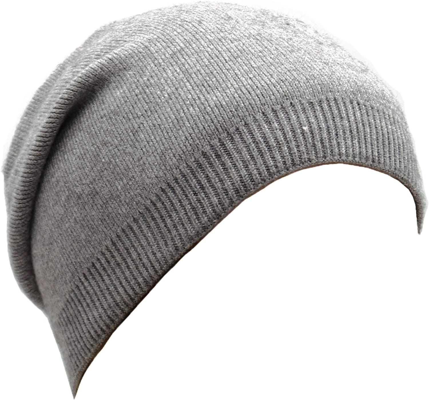 Wheebo Beanie Hat Cashmere Stretch Skull Ski Cap for Women Men -Winter Knit Hat Solid Color Unisex Style