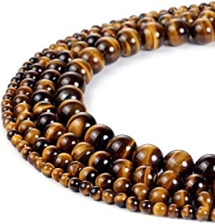 47Pcs 8mm 33 Grams Natural Yellow Tiger Eye Beads Crystal Beads Stone Gemstone Round Loose Energy Healing Beads for Jewelr...