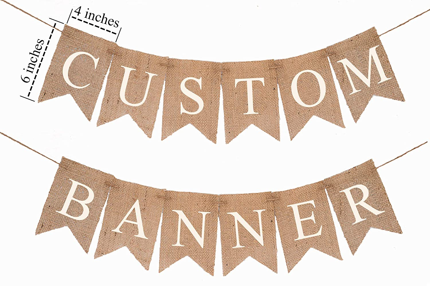 Custom Party Banner 2021 autumn and winter new Customizable Weddings For Burlap Super beauty product restock quality top!