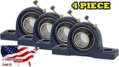4 Piece UCP201-8, 1/2 inch Pillow Block Bearing Solid Base,Self-Alignment, Brand New