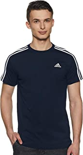 adidas Men's B47359 Essentials 3-Stripes T-Shirt, Collegiate Navy, 2XL