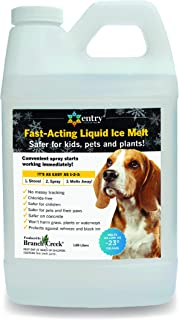 Branch Creek Entry Chloride-Free, Non- Toxic, Liquid Snow and Ice Melt Safer for Pets, Plants, Floors, Concrete, Sidewalks, and Metal for Residential or Commercial Use (0.5 Gallon)