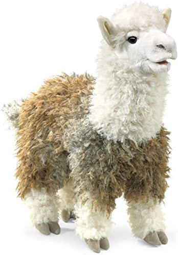 Folkmanis Handpuppe Puppet Alpaca 2953