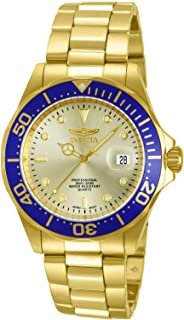 Men's 14124 Pro Diver Gold Dial 18k Gold Ion-Plated...